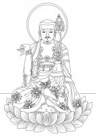 coloring-page-adults-korea-celine free to print