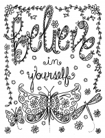 coloring-page-believe-in-yourself-by-deborah-muller free to print