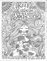 coloring-page-keep-calm-and-do-yoga-by-deborah-muller free to print