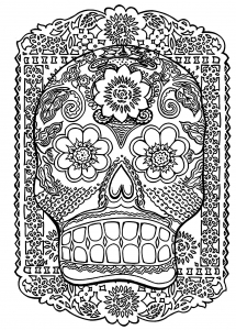 coloring-skull-head-antistress free to print
