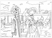 coloring-venice-carnival-by-marion free to print