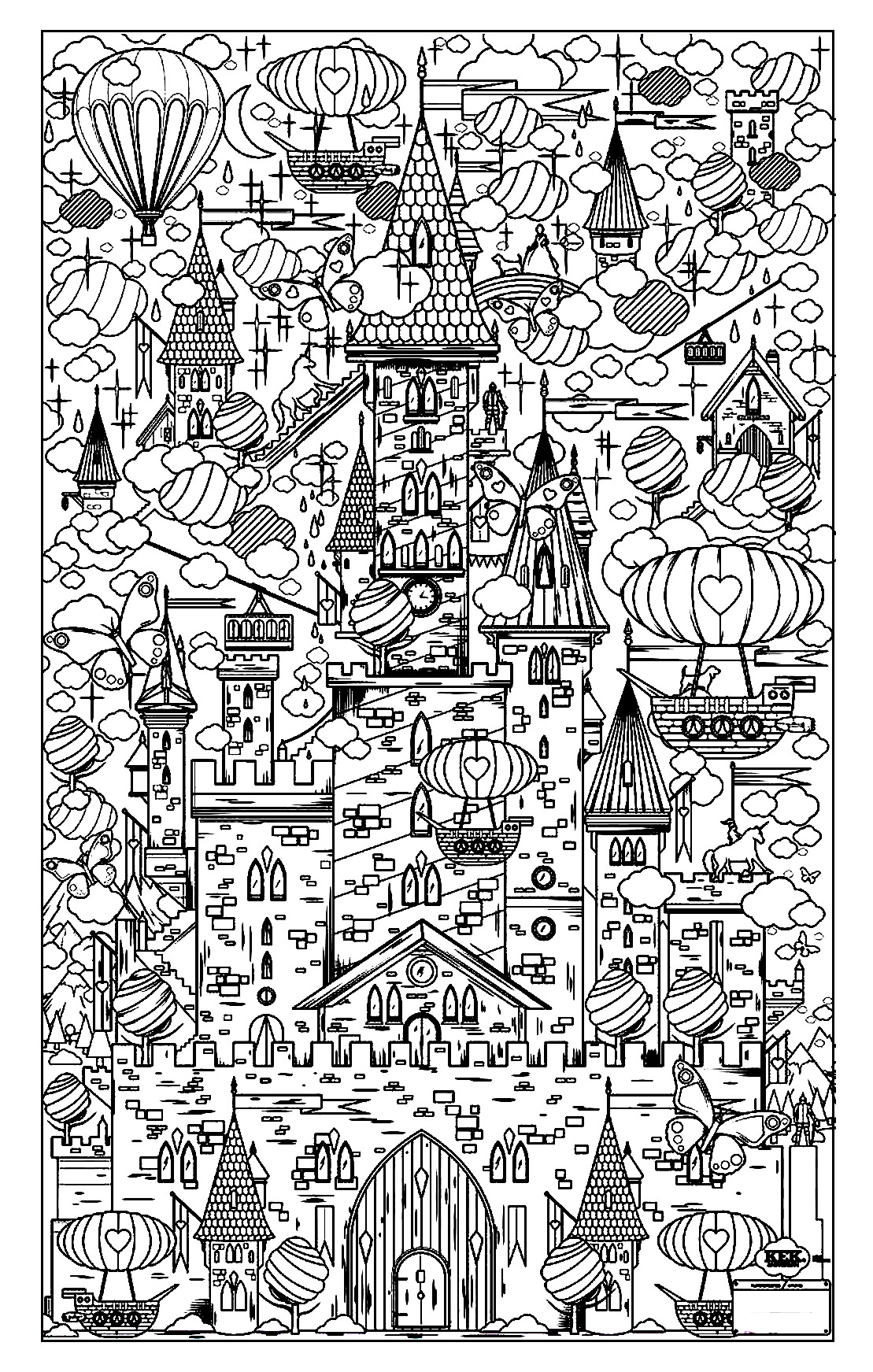 Architecture and living coloring pages for adults coloring architecture 17 for Dessin ville orientale