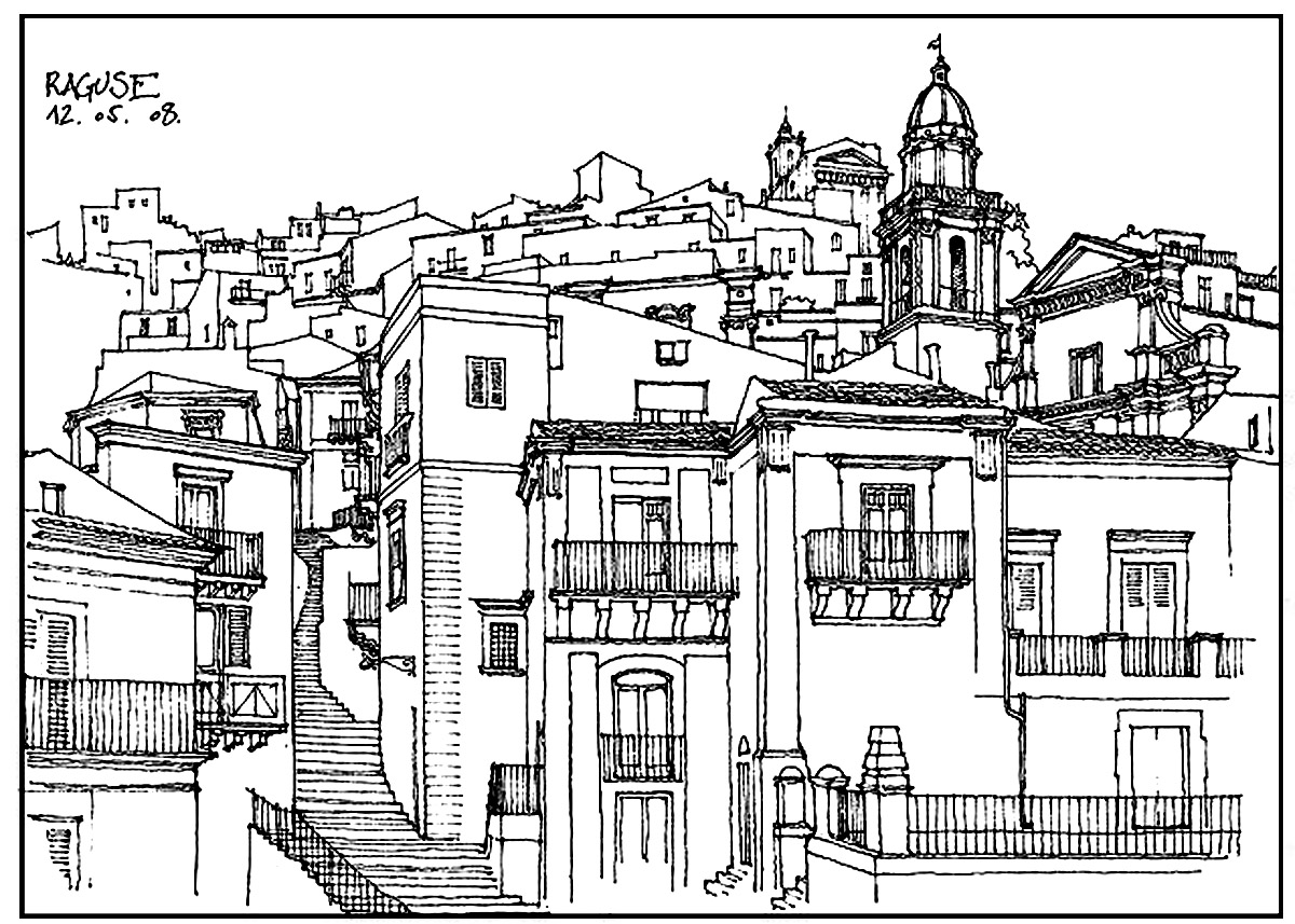 architecture coloring book pages - photo#4