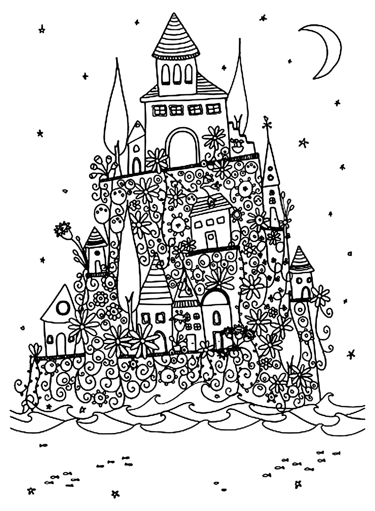 architecture coloring book pages - photo#31