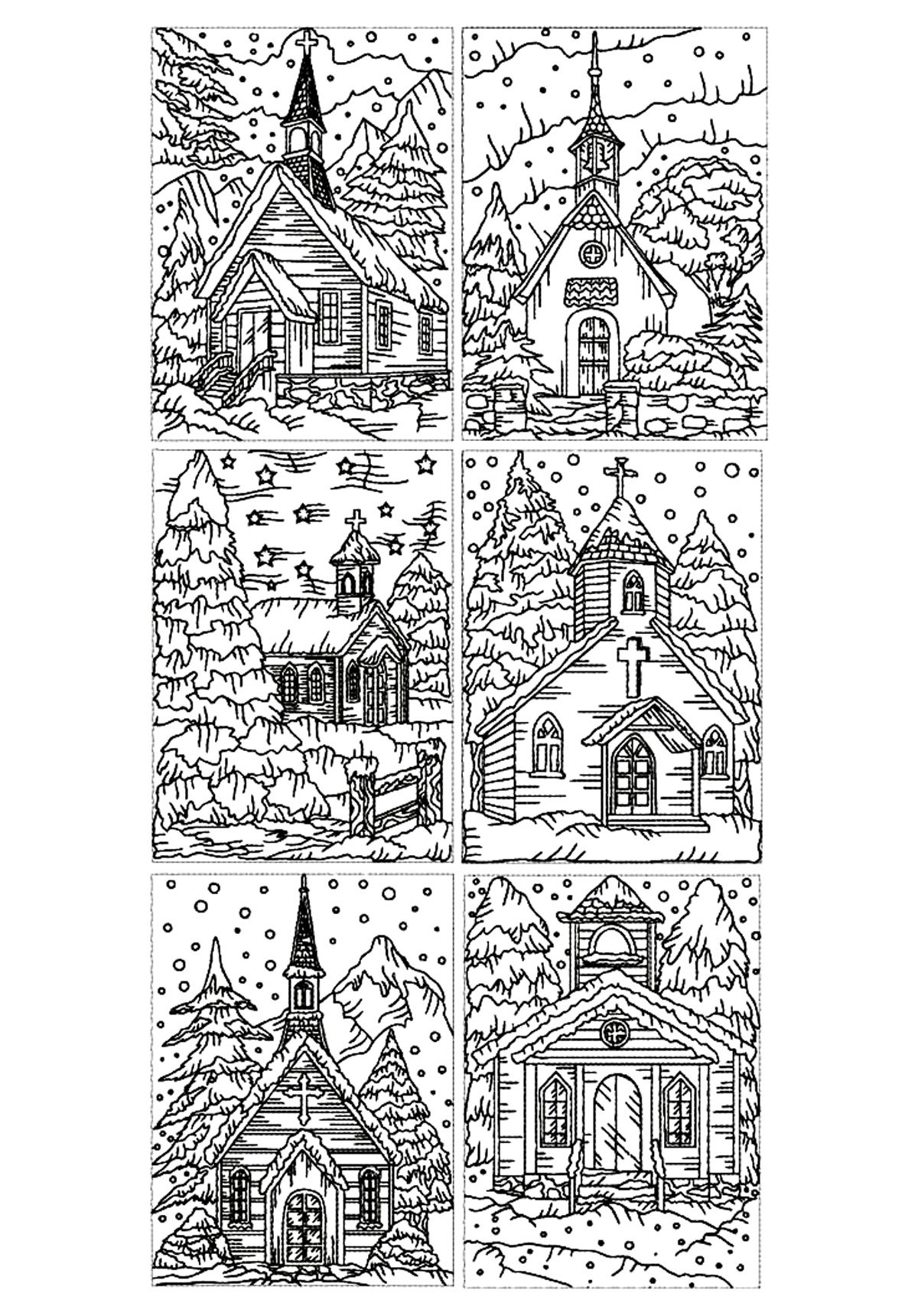 architecture coloring book pages - photo#36
