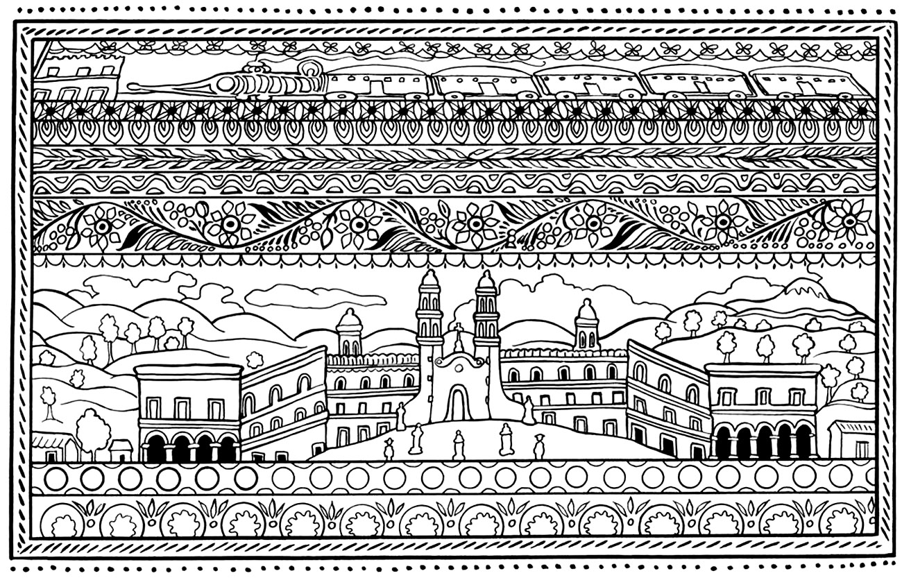 spanish coloring pages for adults | Architecture and Living - Coloring pages for adults ...