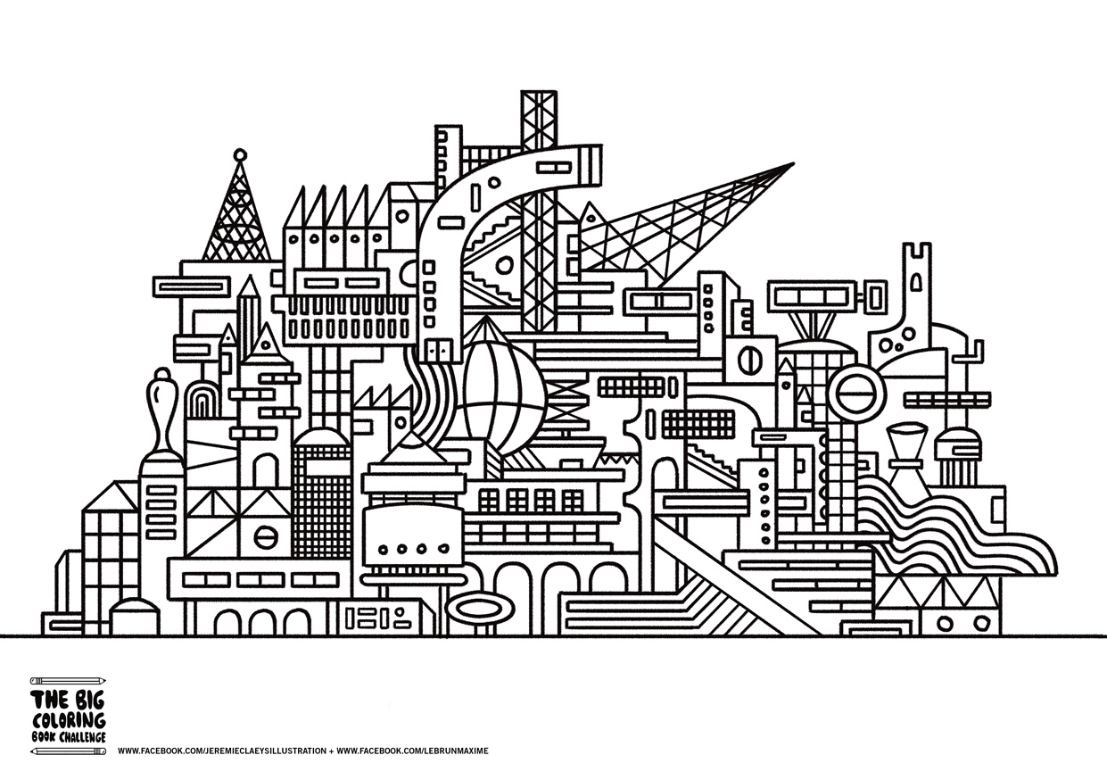 architecture coloring book pages - photo#16