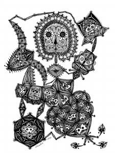 coloring-art-brut-marc-lamy-1 free to print
