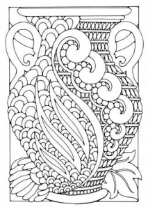 coloring-adult-art-deco-vase free to print