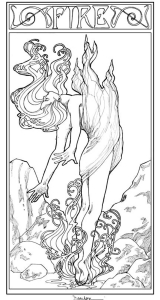 coloring-adult-art-nouveau-style-fire-woman free to print