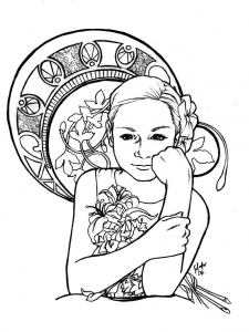 coloring-adult-inspiration-art-nouveau free to print