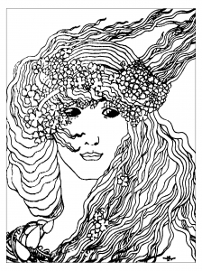 coloring-art-nouveau-from-climax-by-aubrey-vincent-beardsley-1893 free to print