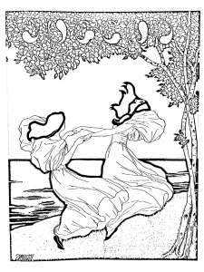 coloring-art-nouveau-from-lithography-by-ludwig-von-zumbush-1900 free to print