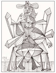coloring-adult-drawing-by-picasso-1938 free to print