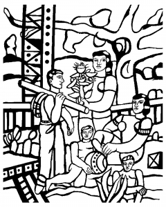 famous art coloring pages picasso josepi coloring fernand leger the camper free to print - Famous Art Coloring Pages Picasso