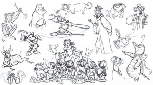 coloring-adult-disney-sketches-various-characters-2 free to print