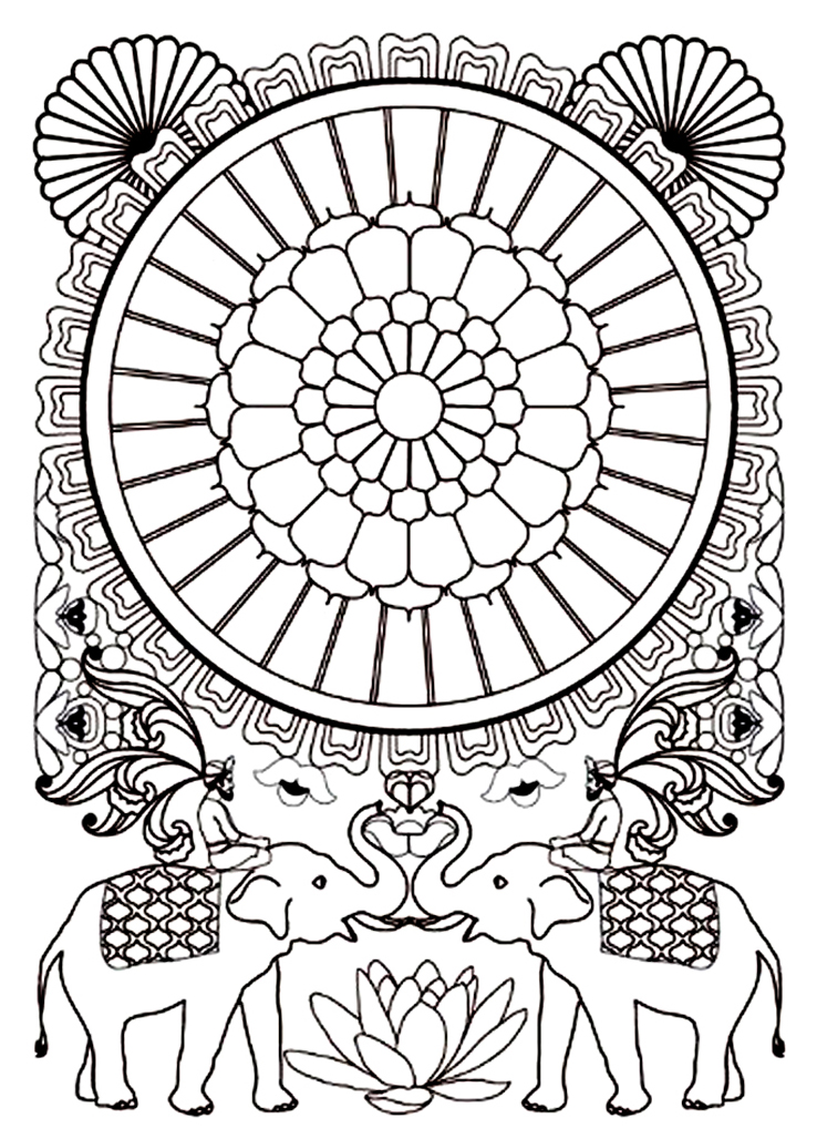 coloring pages about india - photo#39