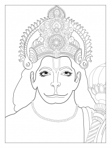 coloring-page-adults-chest-hanuman free to print