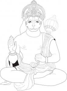 coloring-page-adults-hanuman free to print