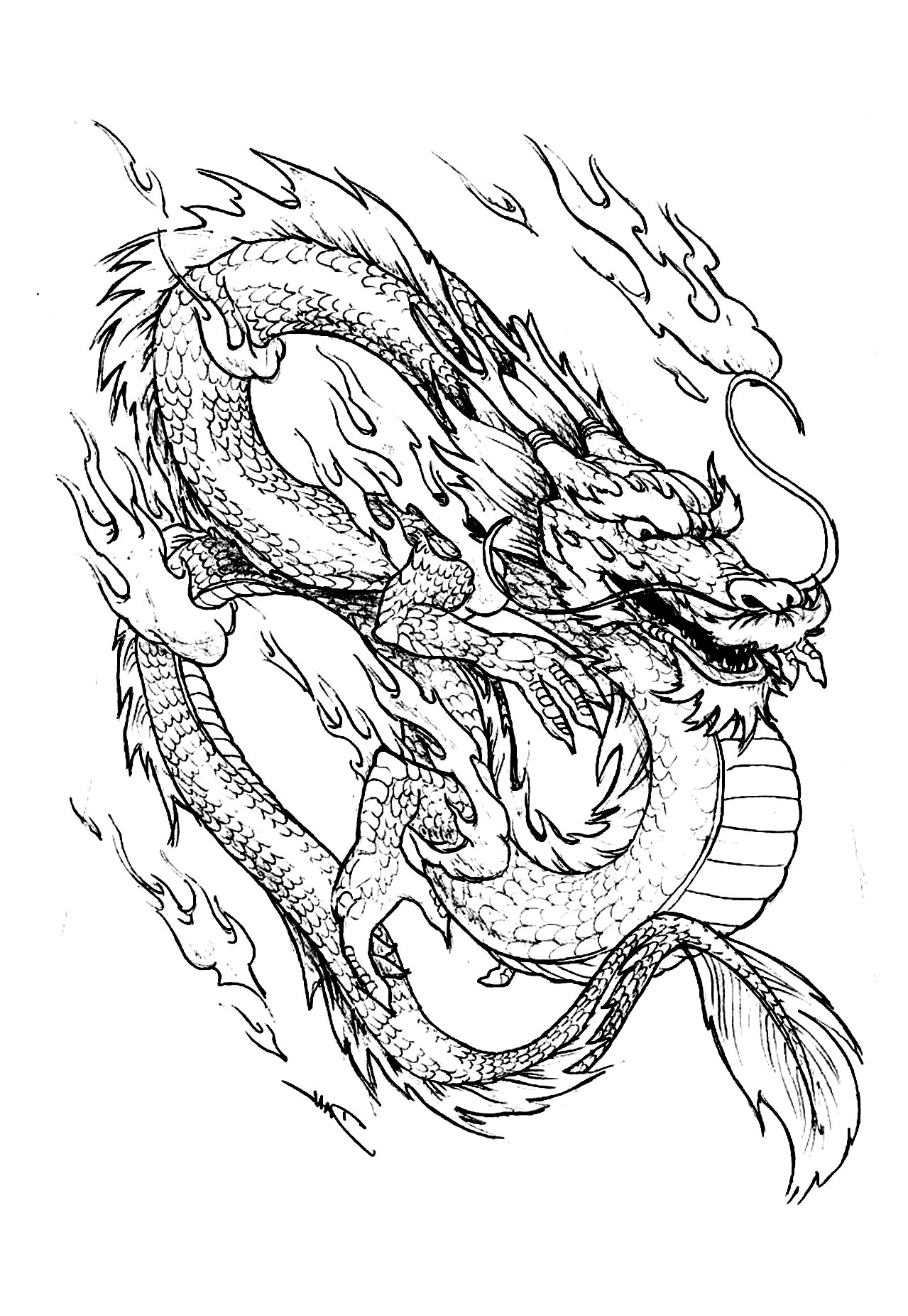 chinese dragon face coloring page - Chinese Dragon Mask Coloring Pages