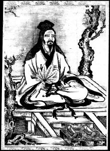 coloring-adult-confucius-et-disciples free to print
