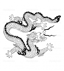coloring-adult-dragon-chinois free to print