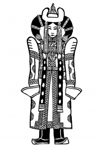coloring-page-chinese-imperial robes free to print