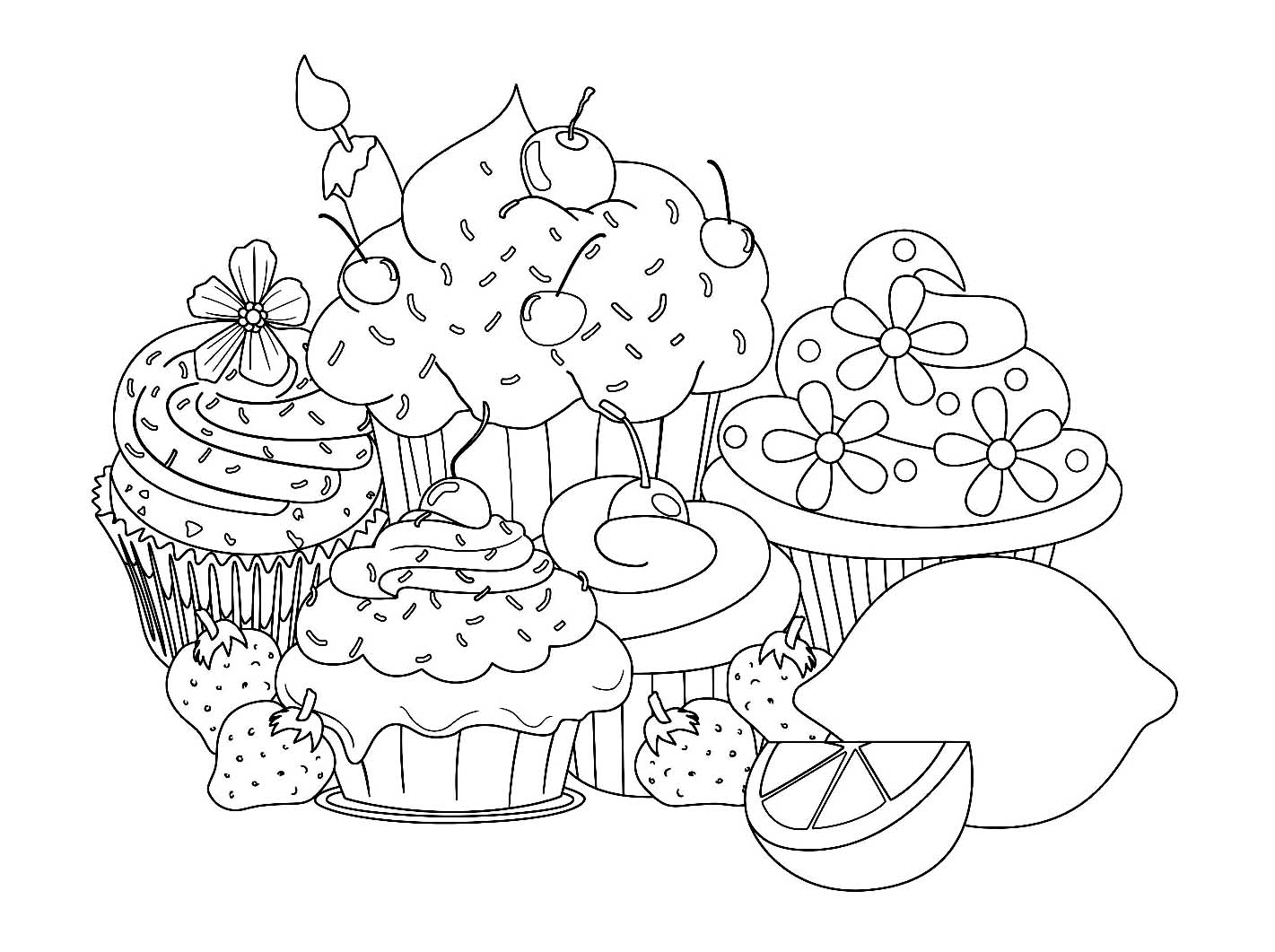 coloring pages pretty cupcakes dudeindisneycom - Coloring Pages Pretty Cupcakes