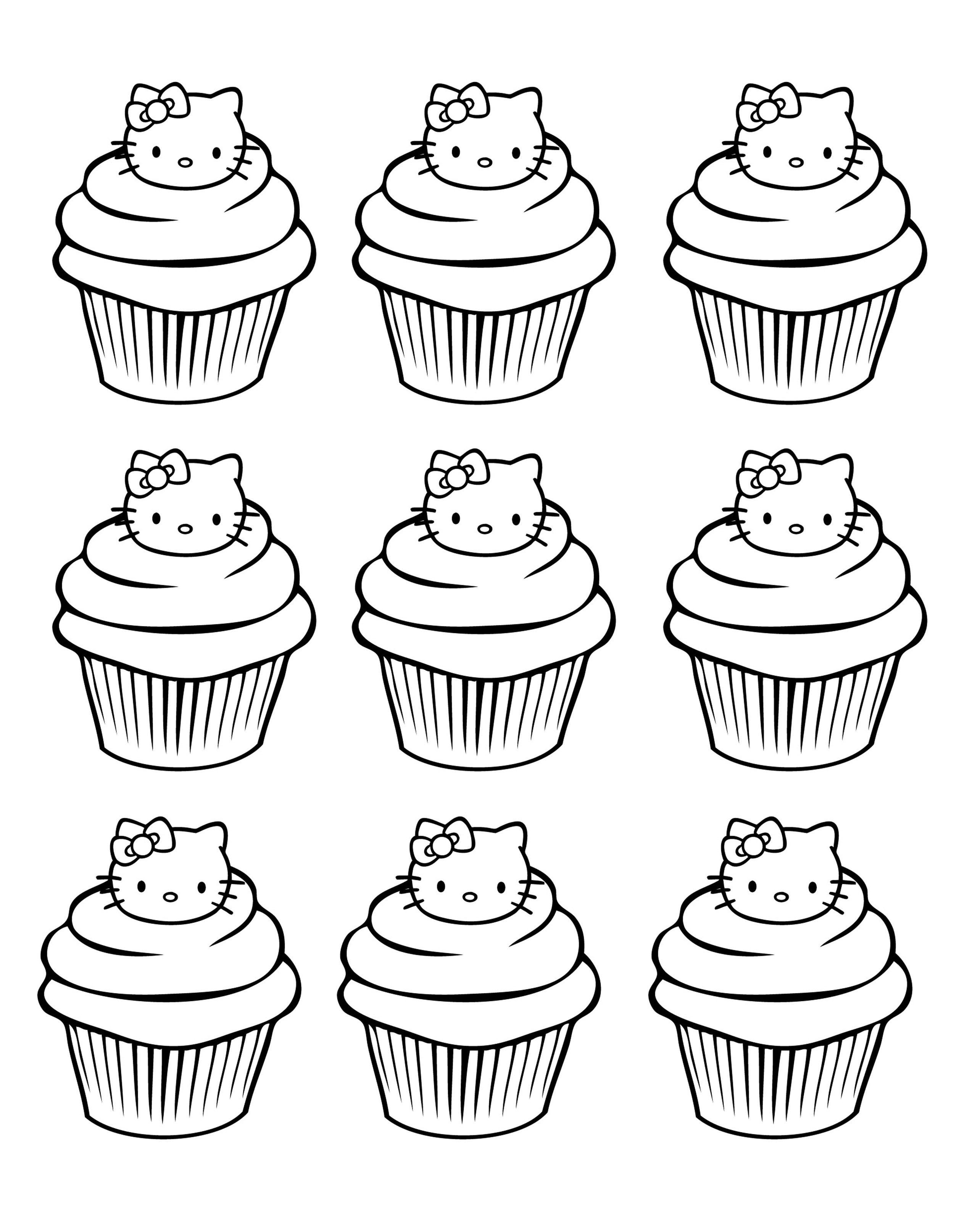 Cupcake Coloring Pages Simple : Cup Cakes - Coloring pages for adults : coloring-cupcakes ...