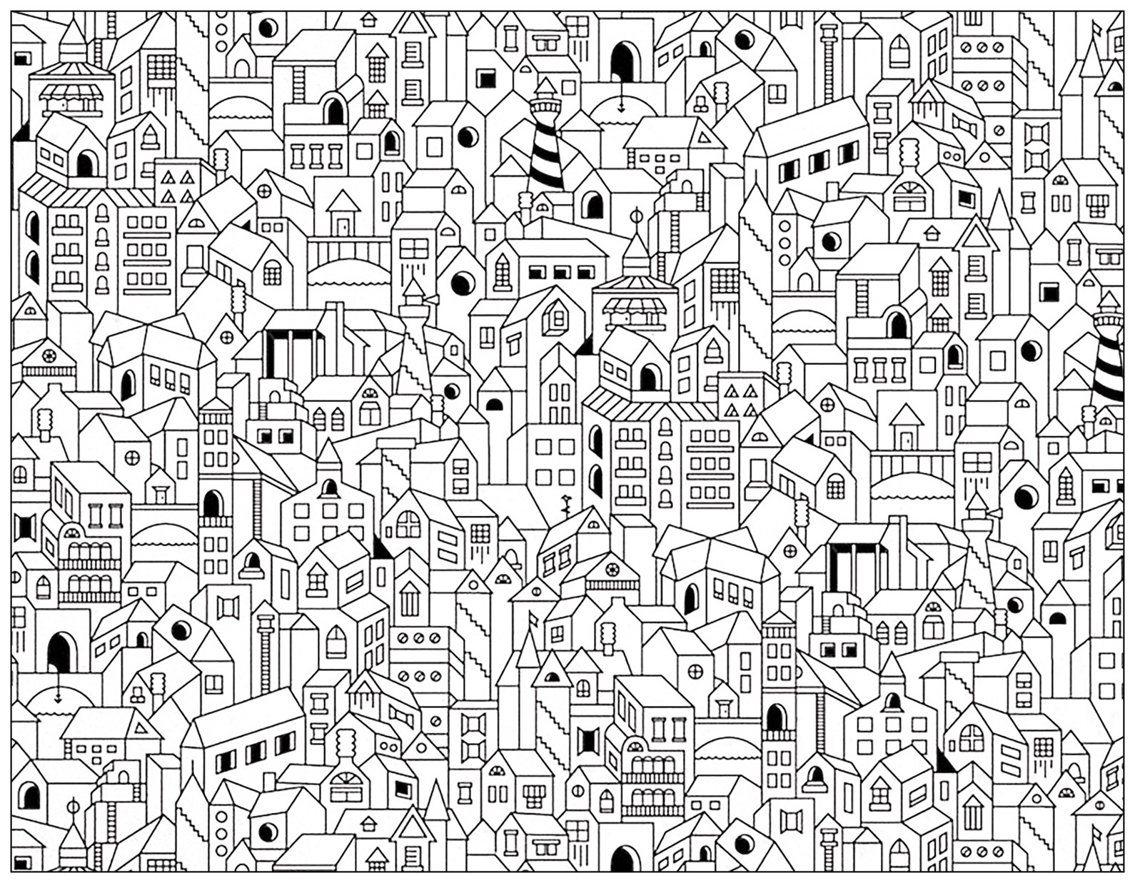 City Buildings DoodleFrom the gallery : Doodling / Doodle Art