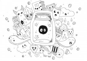 coloring-page-adults-kawaii-doodle-rachel free to print