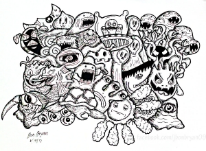coloring-doodle-monsters-by-bon-arts free to print
