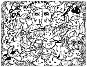 coloring-funny-doodle-by-bon-arts free to print