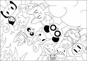 coloring-page-adult-Hell-&-Paradise free to print