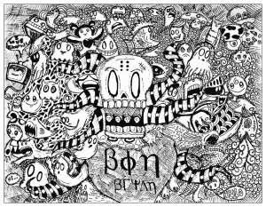 coloring-strange-doodle-by-bon-arts free to print