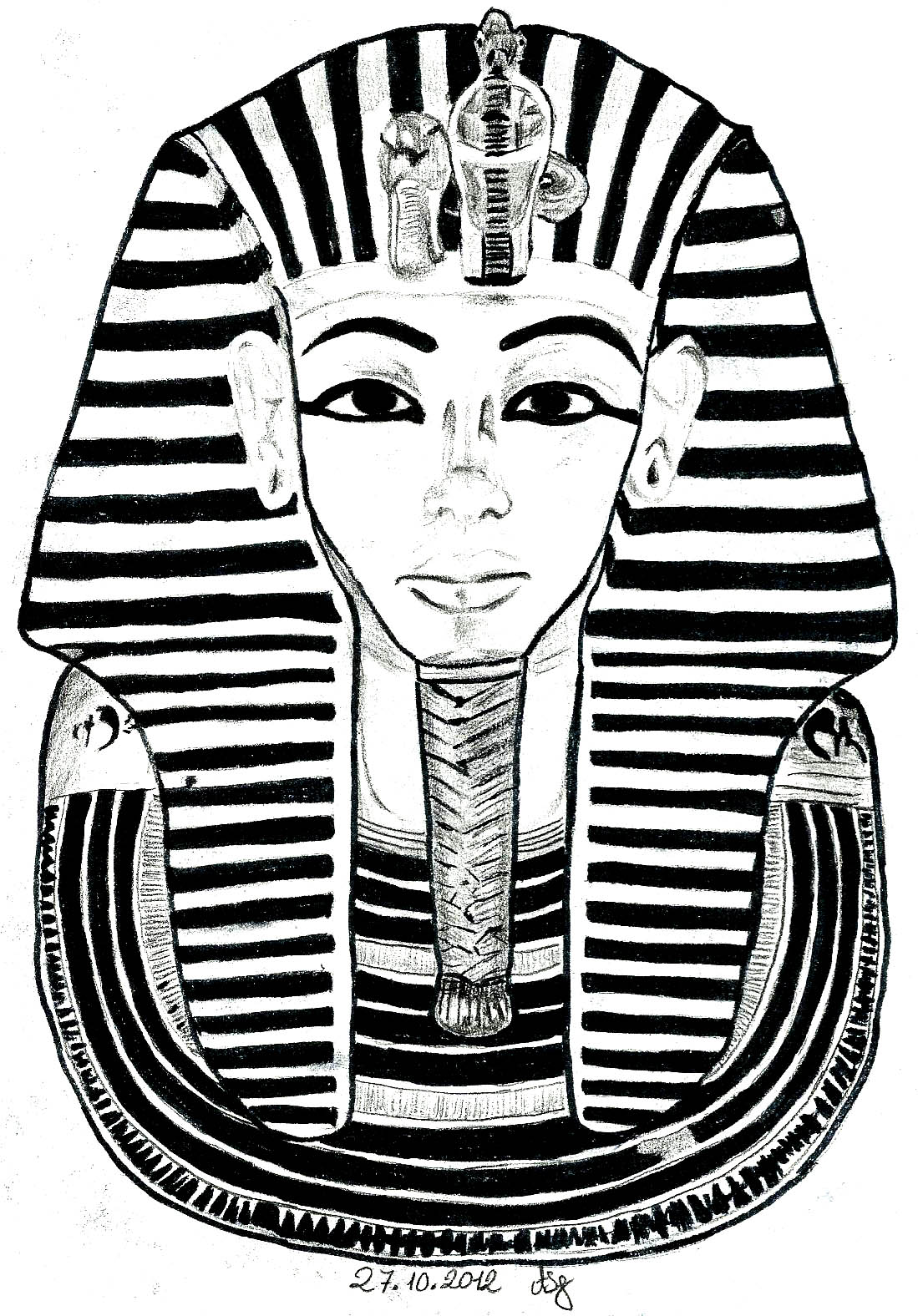 Egypt Hieroglyphs Coloring pages for adults coloring