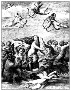 coloring-adult-engraving-domenico-cunego-galatee-raphael-1771 free to print