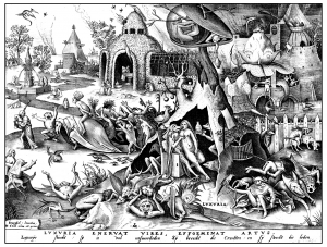 coloring-adult-engraving-pieter-bruegel-luxuria free to print