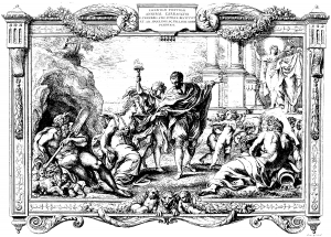 coloring-adult-engraving-pietro-aquila-allegory-with-annibal-carrache-and-painting-1674 free to print