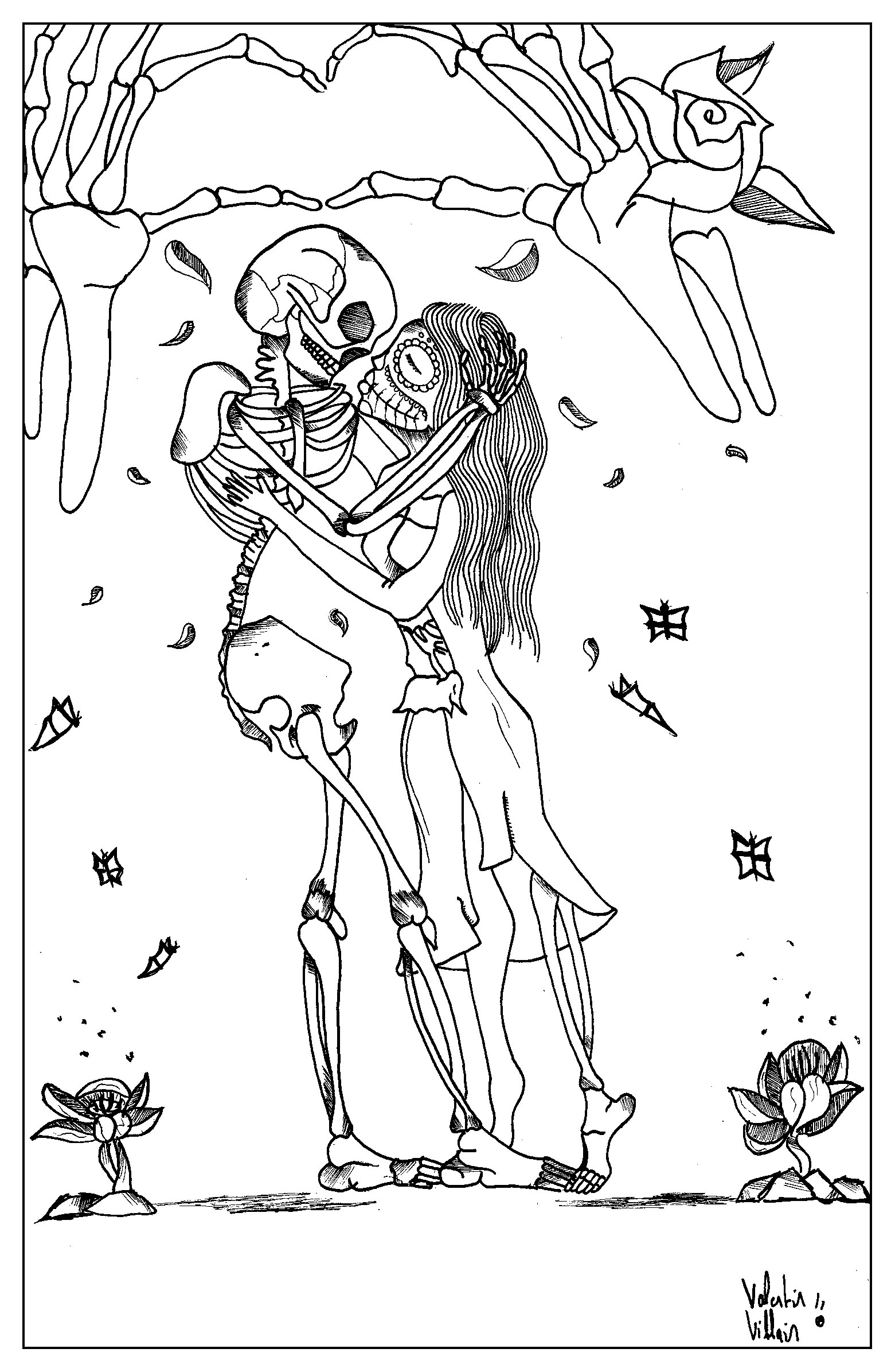 Coloring Pages St Valentine Coloring Pages valentin coloring pages for adults page adult a valentines day with very particular stylefrom the gallery eventsartist valentin