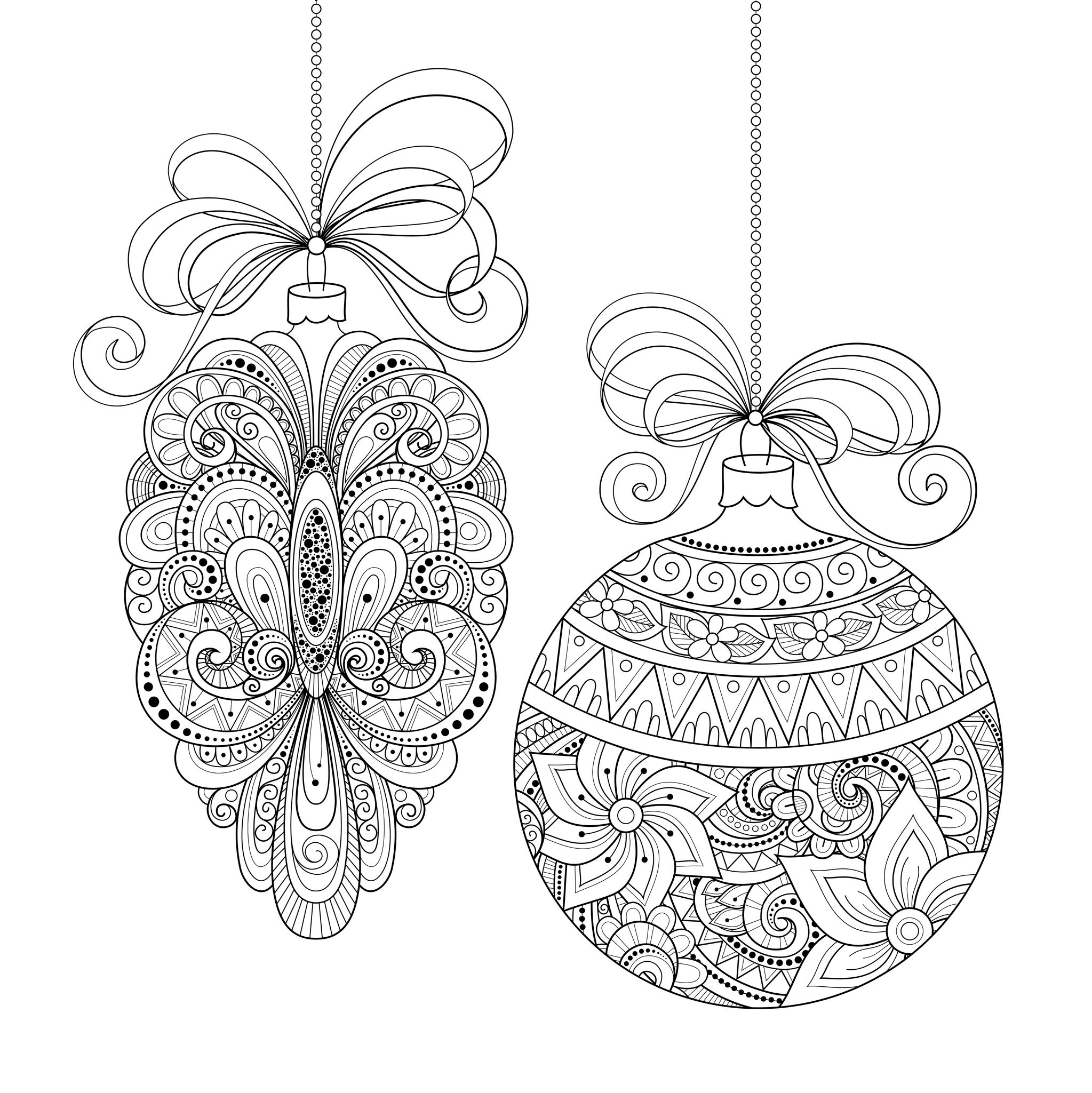 christmas coloring pages for adults coloring adult christmas ornaments by irinarivoruchko