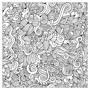 complex easter coloring pages - photo#7