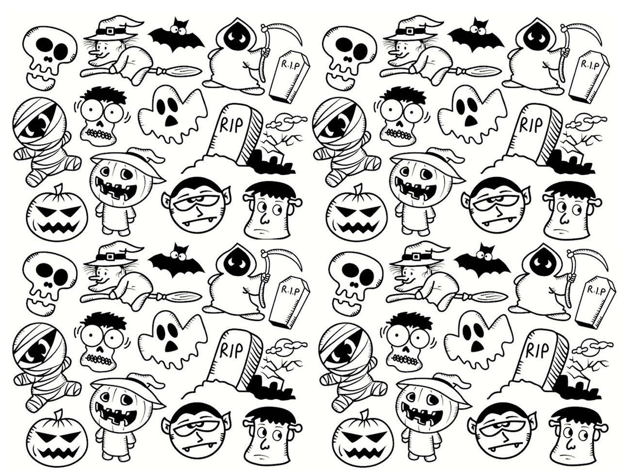 100 halloween coloring pages witch detail for tarantula