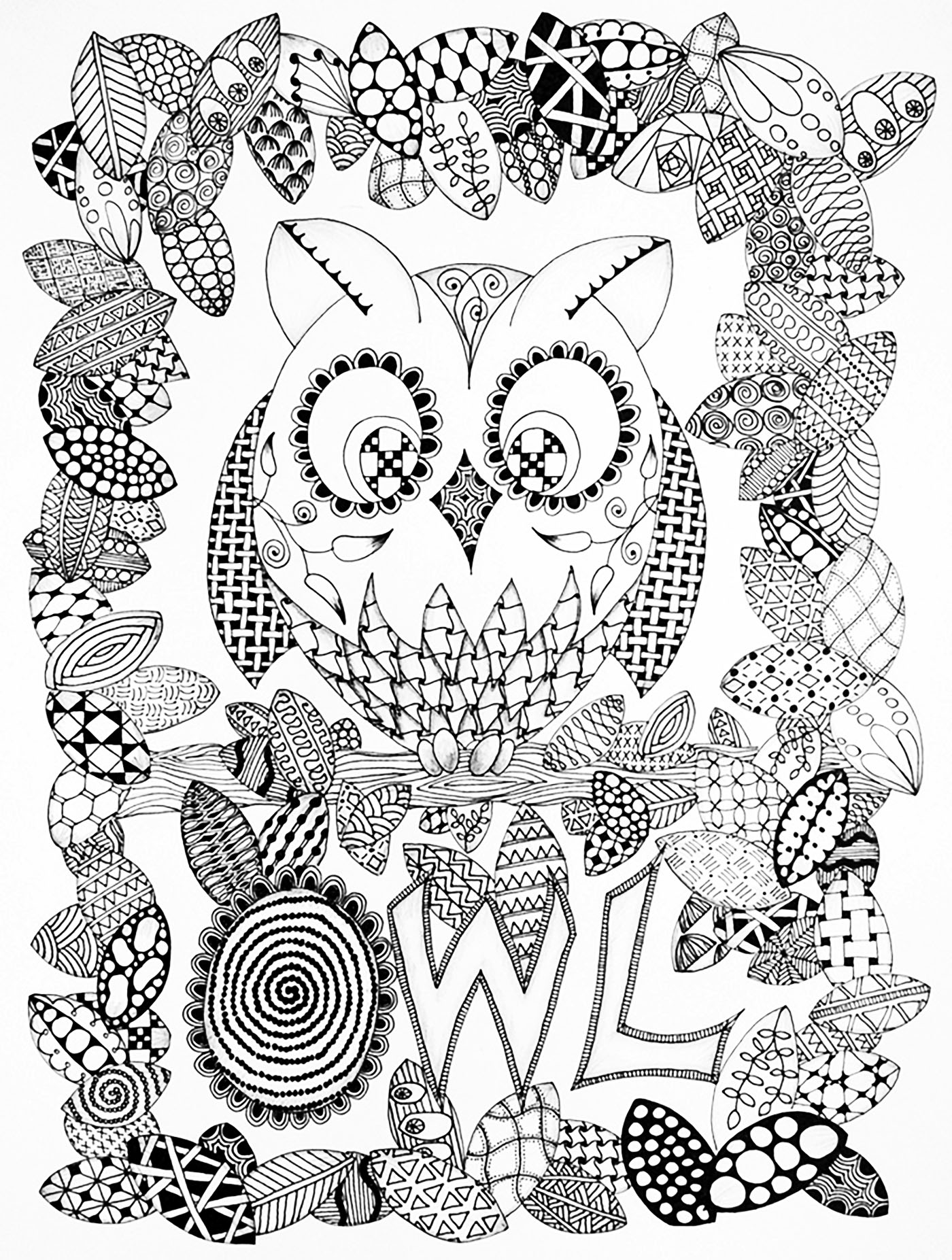 Zentangle coloring pages printable - Coloring Pages For Kids Rose Zentangle
