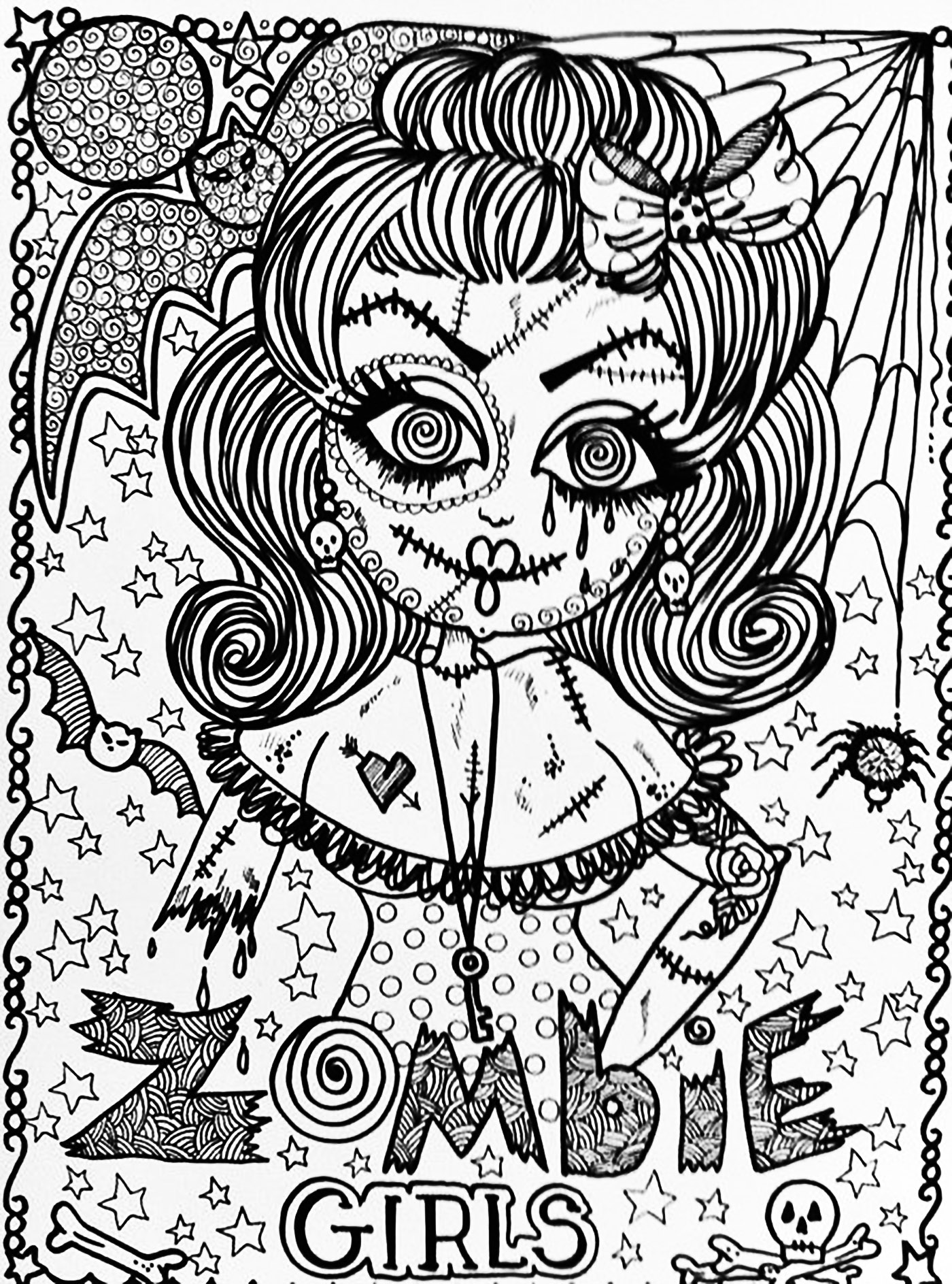 Halloween Coloring pages for adults coloringadult