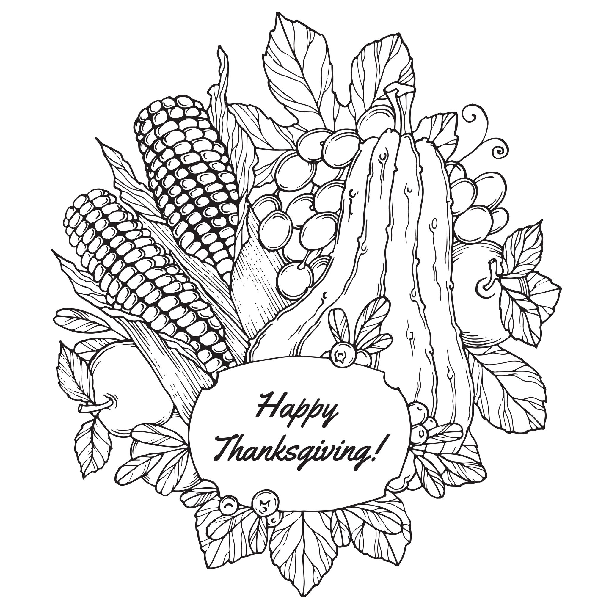 thanksgiving printable coloring pages adults - photo#7