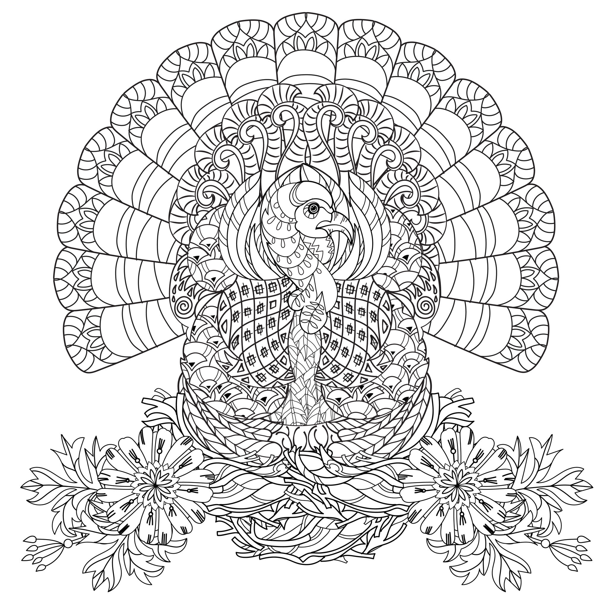 thanksgiving printable coloring pages adults - photo#10