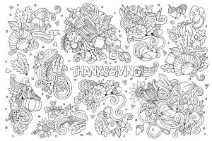 HD wallpapers cornicopia coloring page