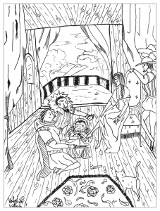 coloring-page-adults-cinderella free to print