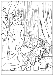 coloring-page-adults-goldlocks free to print